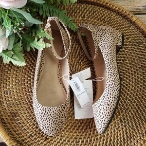 Old Navy NWT Shoes Animal Print Ankle tab Cushion